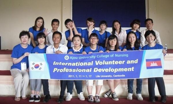 캄보디아 간호봉사활동 실시